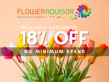 18% off on all purchases with this exclusive FlowerAdvisor promo code