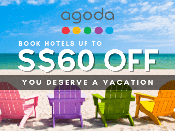 Enjoy a bonus discount of up to SGD60 on your hotel bookings via Agoda with this coupon code
