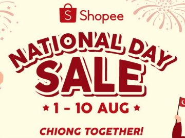 National Day Sale! Enjoy SGD10 off your purchase with this Shopee voucher code