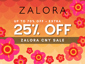 New User Code! Enjoy 25% off your first purchase with Zalora with this exclusive promo code