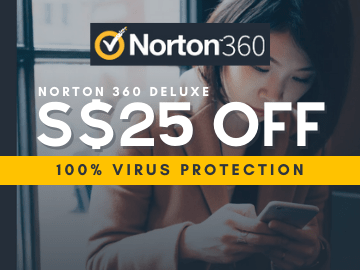 Save up to S$25 off when you install the Norton 360 Deluxe