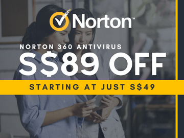 Save up to S$89 off on Norton 360 Antivirus, starting at just S$49