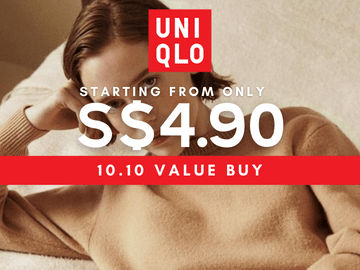 Shop the Uniqlo sale now and shop for clothes and accessories at prices starting from S$4.90