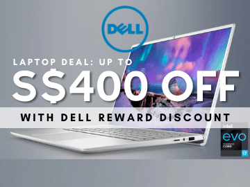 Up to S$400 off plus 5% off on your next purchase with the Dell Rewards discount